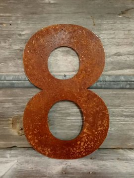 Rusted Metal Number 8 18""