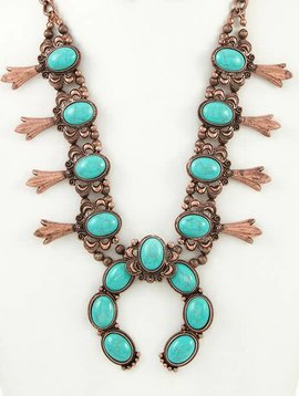 Copper Squash Blossom Necklace