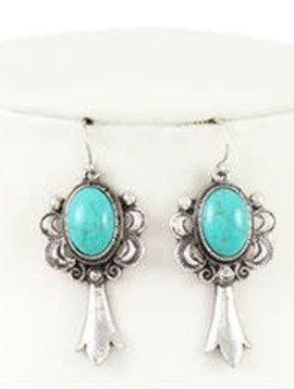 Silver + Turquoise Earring