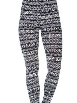 Geo Black + White Legging