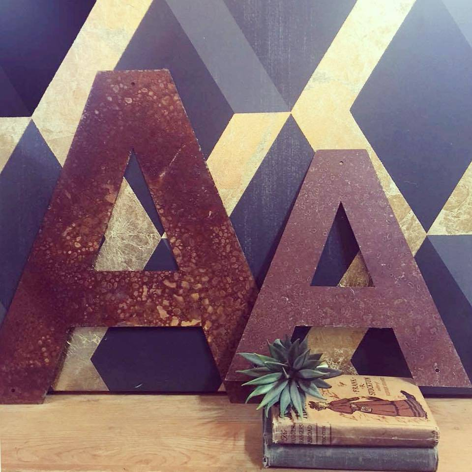 """Rusted Metal Letter A 18"""""""