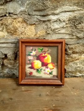 Cross Stitch Still Life Apples