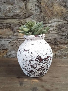 White Crackle Jar