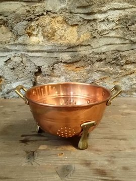 Small Copper Colander