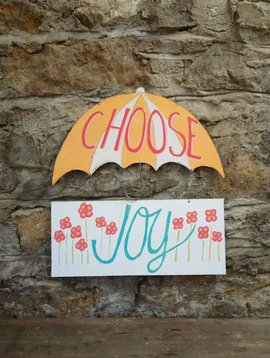 Choose Joy Wall Sign