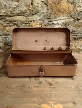 Brown Metal Tackle Box