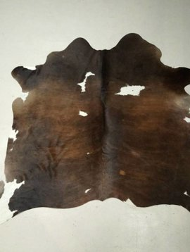 Dark Brown + White Cowhide 2288
