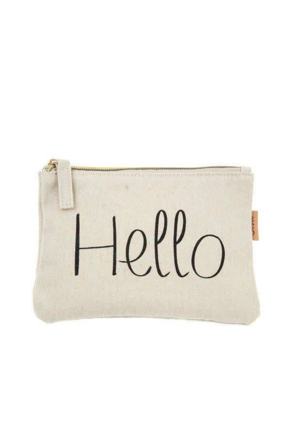 Hello canvas zipper pouch cactus creek hello canvas zipper pouch stopboris