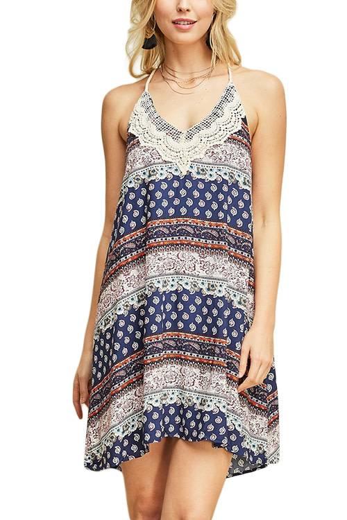 Boho Multi Print Dress