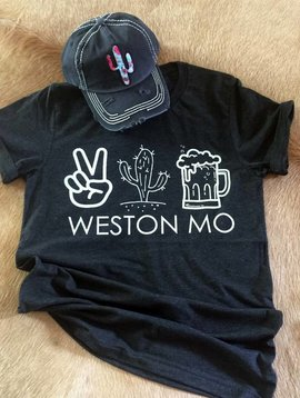 Peace Cactus Beer Weston Tee