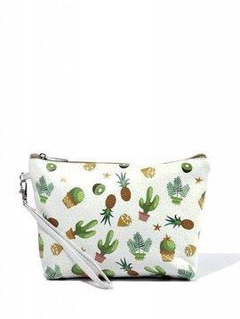 Cactus Print Cosmetic Bag