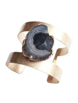 Black Agate Stone Cuff