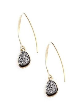 Druzy Wire Hook Earring