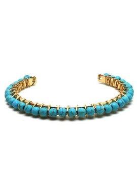 Woven Wire Stone Cuff Bracelet