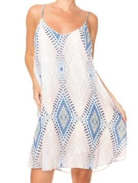 Aztec Spaghetti Strap Dress