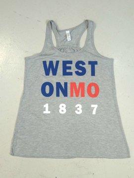 Patriotic Weston MO Ladies Tank Top