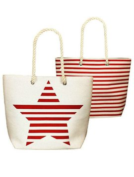 Stars & Stripes Tote Bag Red