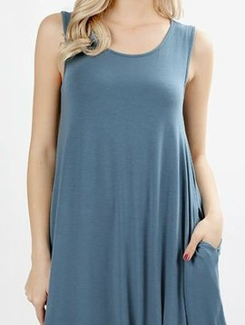 Curvy Sleeveless Swing Dress