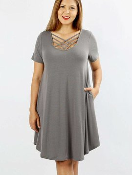 Curvy Lattice Swing Dress