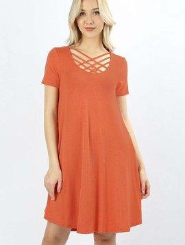 Lattice Swing Dress