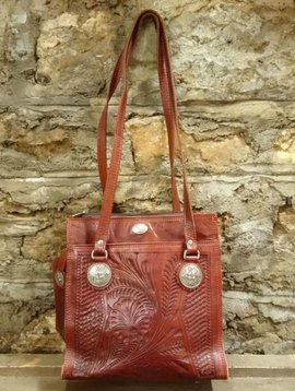 American West Tooled Leather Purse
