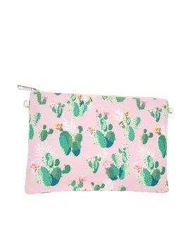 Pink Cactus Zipper Pouch