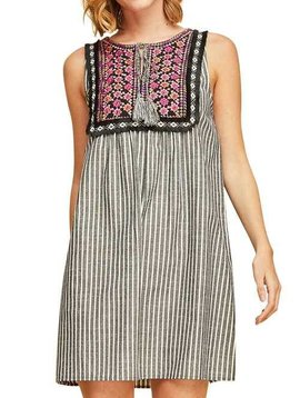 Pin Stripe Baby Doll Dress