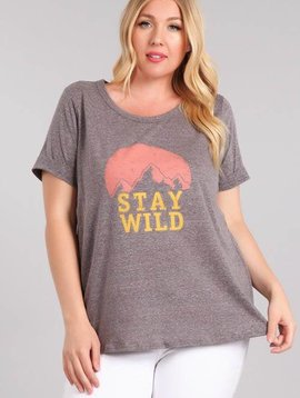 Stay Wild Graphic Tee Curvy