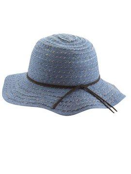 Blue Floppy Sun Hat