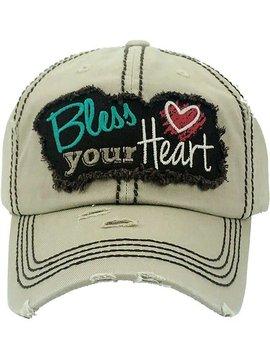 Bless Your Heart Ball Cap Khaki