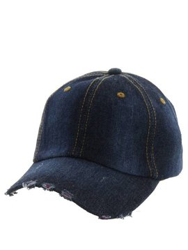 Distressed Denim Cap