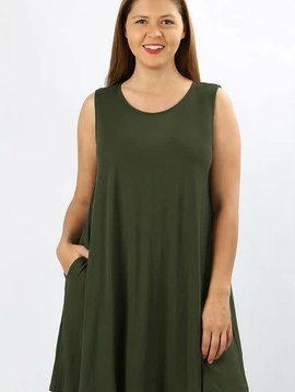 Sleeveless Swing Dress Curvy