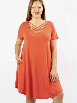 Curvy Lattice Swing Dress