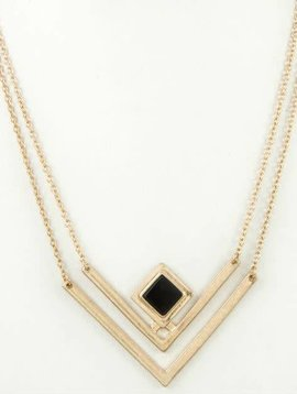 Golden Chevron Necklace
