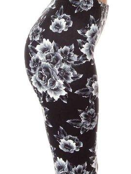 Monochrome Floral Legging