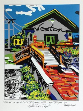 Weston Train Depot Cell Phone Print