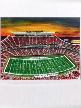 Arrowhead Stadium Sunset Print