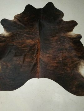Dark Brown Brindle Cowhide 2346