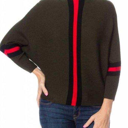 Military Stripe Rib Knit Top
