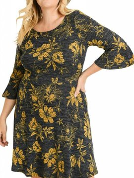 Bell Sleeve Floral Dress Curvy