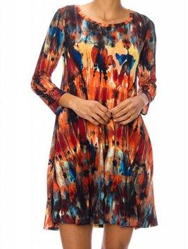 Watercolor Tie Dye Dress