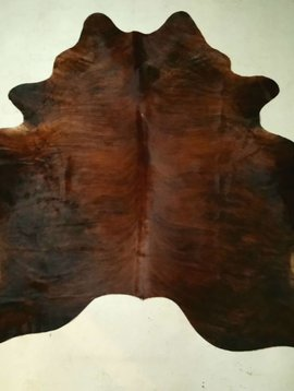 Dark Red Brindle Cowhide 2343