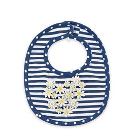 Mud Pie Daisy Heart Bib