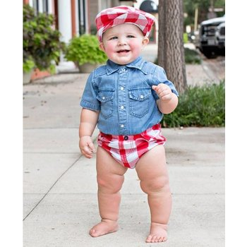 Rugged Butts Red Plaid Bloomer