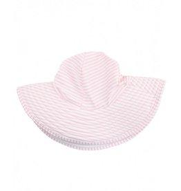 Ruffle Butts Pink Seersucker Swim Hat