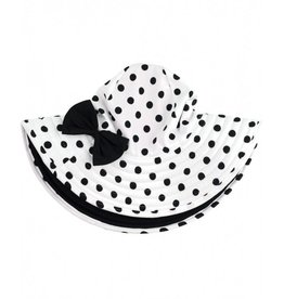 Ruffle Butts White Polka Dot Reversible Swim Hat
