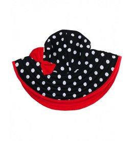 Ruffle Butts Vintage Polka Dot Swim Hat