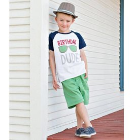 Rugged Butts Birthday Dude Raglan Tee