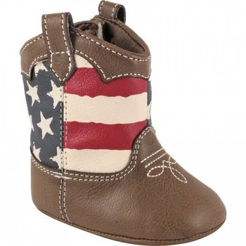 Baby Deer Crawling Stage American Flag Boot