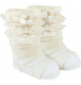 Ivory Lace Peep Warmer